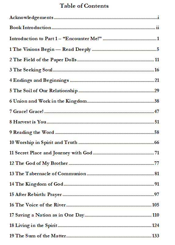 You Can Know God Contents pg1